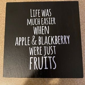 Desk Wall Plaque Black and White 5x5 Funny Sign